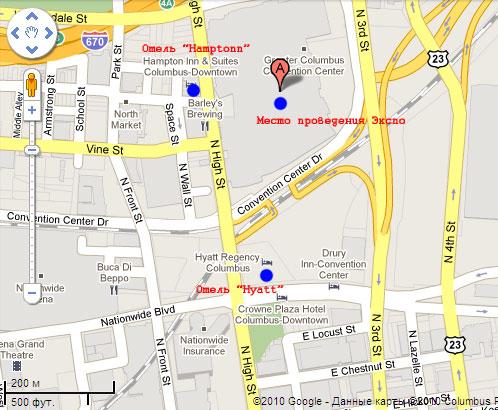 Карта места проведения «Арнольд Экспо»