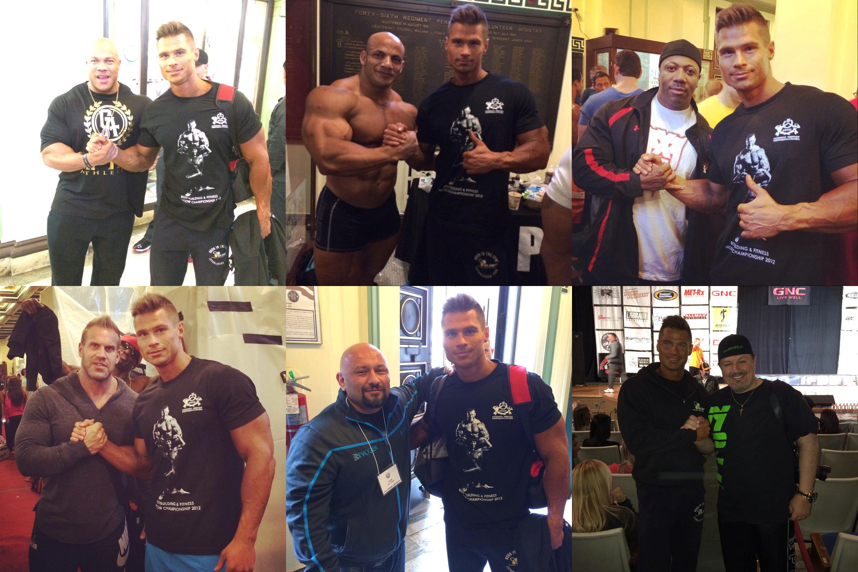 Денис Гусев и звезды IFBB Pro League