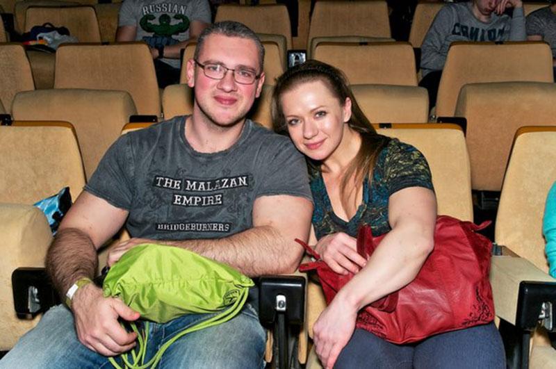 Ольга Белякова с супругом