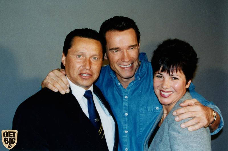 Семейное фото с Арнольдом Шварценеггером
