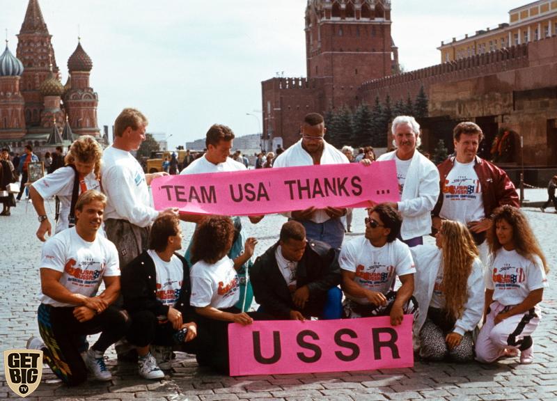 Сборная США на Красной площади