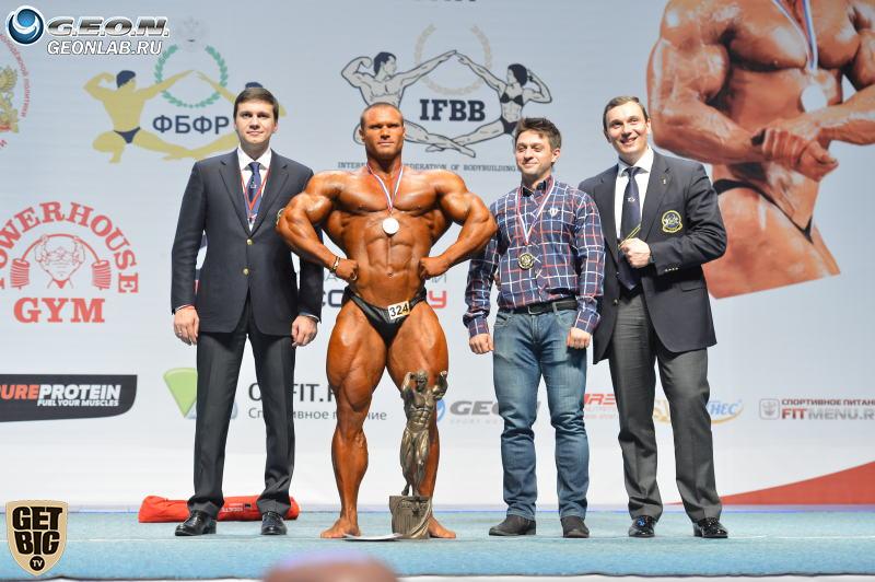 Аркадий Величко - абсолютный чемпион России по бодибилдингу - 2014