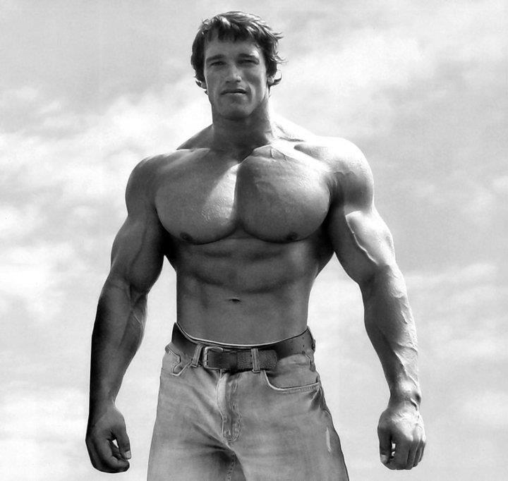 Арнольд Шварценеггер и его грудные мышцы