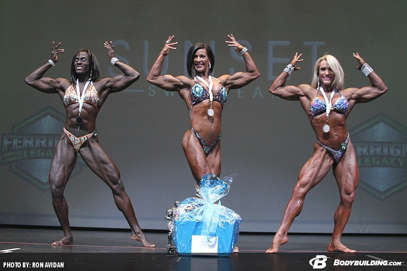 Призерки категории «Женский физик» на IFBB «Феррино Легаси» - 2014