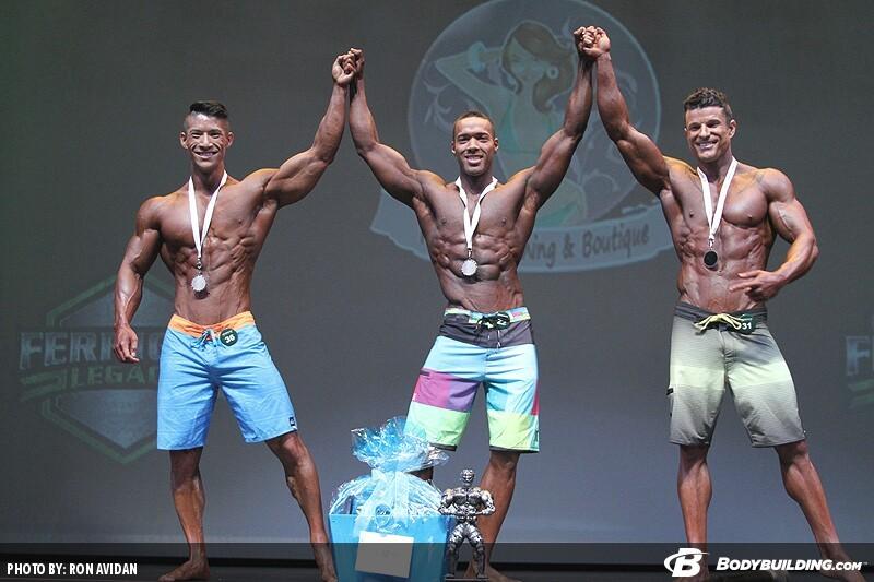 Призеры категории «Мужской физик» на IFBB «Феррино Легаси» - 2014