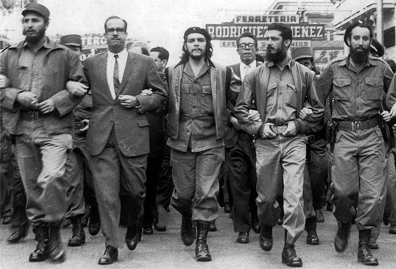 Фидель Кастро и его соратники по борьбе