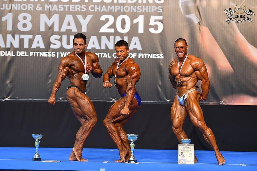 95 кг - Shahriyar NEMATYMIRZAEE (2nd place); Roman DUDUSHKIN (1st place); Marti POZZI (3rd place)