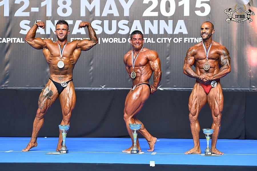 80 кг - Ange-Marie PELLEGRINI (2nd place); Alberto GALAN (1st place); Jan FOTMEIJER (3rd place)
