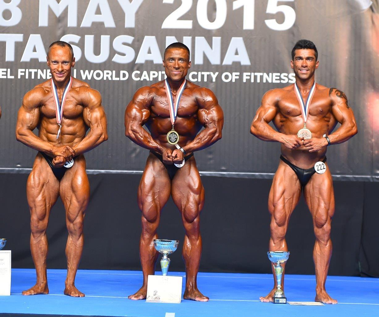 70 кг - Igor KOCIS (2nd place); Roman IUSHCHENKO (1st place); Marcos CUNHA PEREIRA (3rd place)