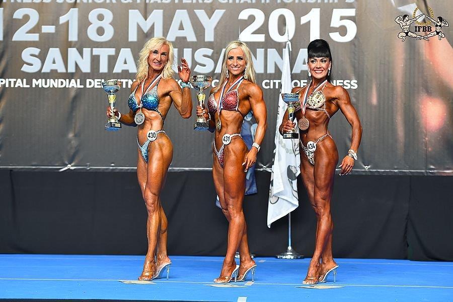 Rita HARDENBERG (2nd place); Kramer RANNVEIG (1st place); Irina BLINOVA (3rd place).