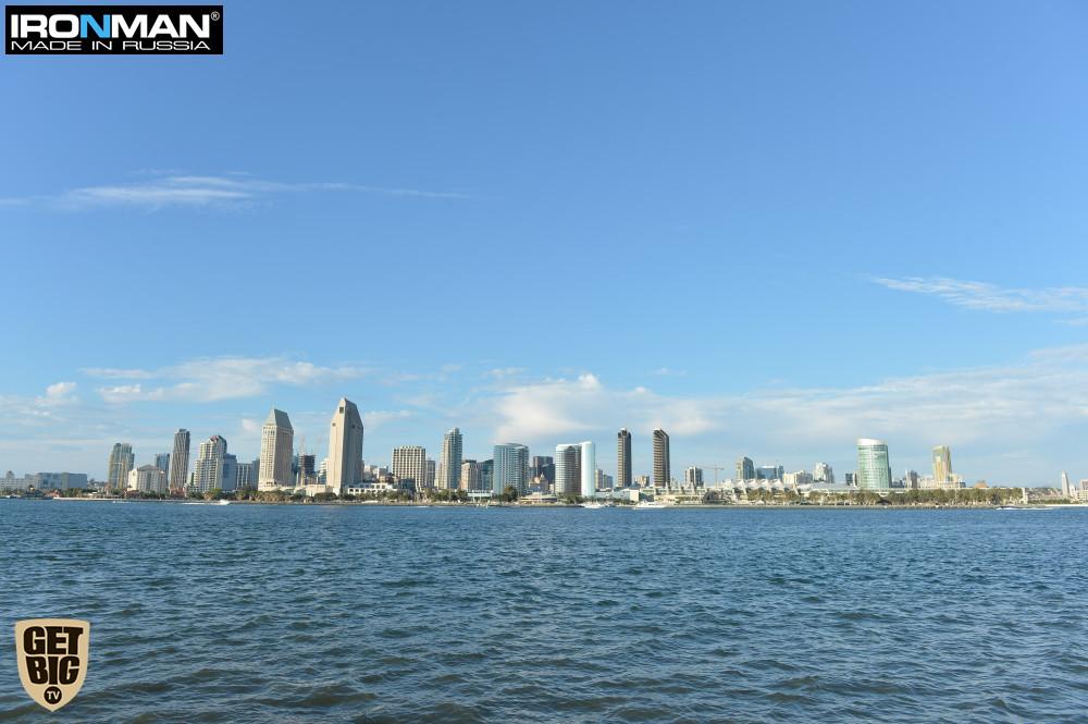 Вид на даунтаун Сан-Диего с острова Коронадо