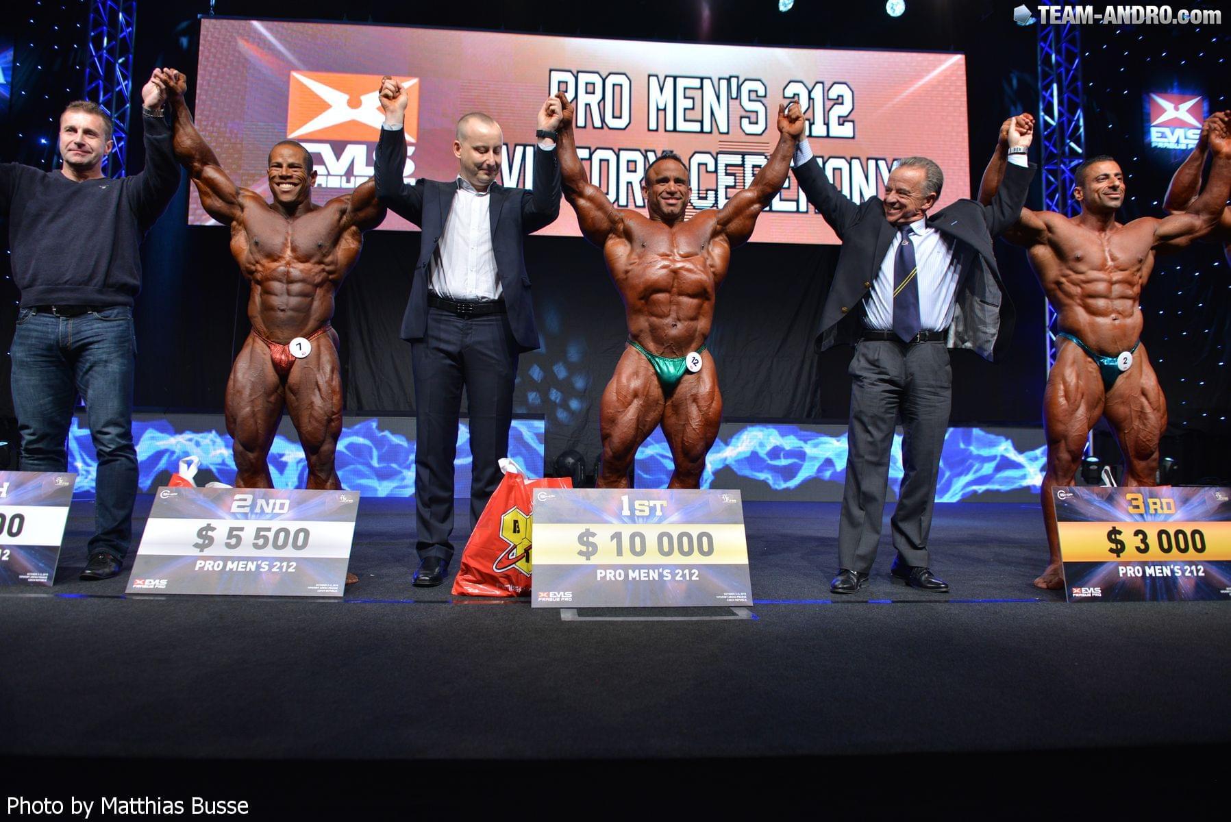Мужской бодибилдинг, категория до 212 фунтов на «EVLS Прага Про»-2015