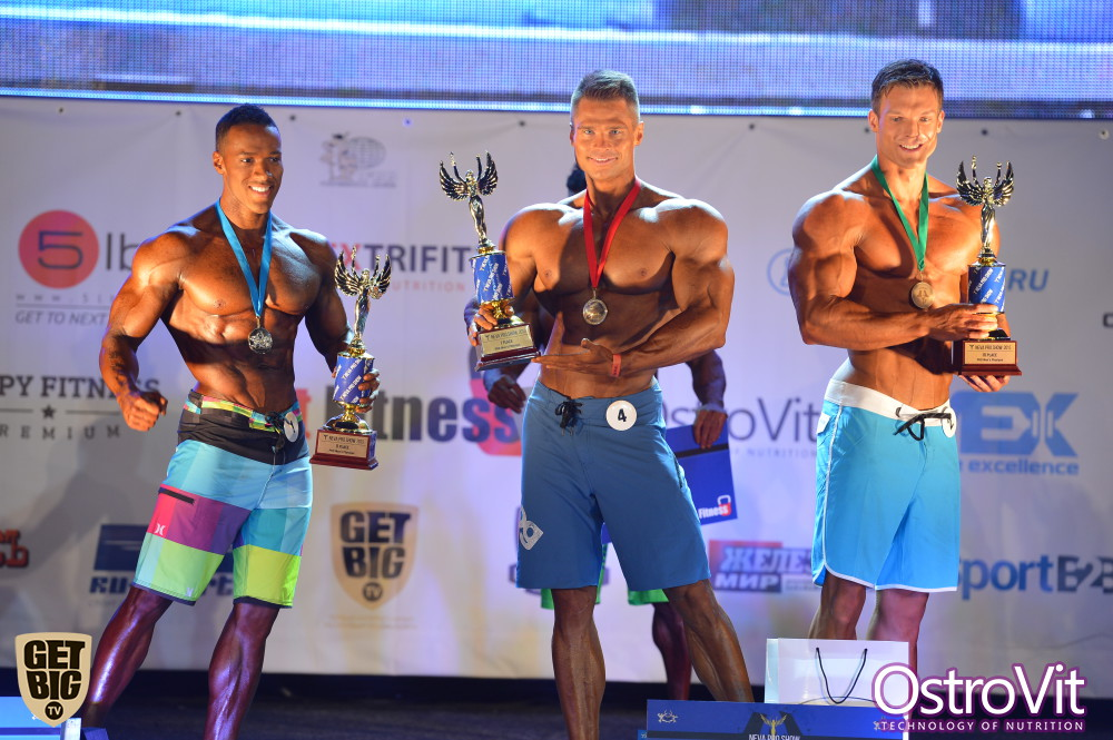 Andre Adams (2nd place), Denis Gusev (1st place), Robin Balogh (3rd place)