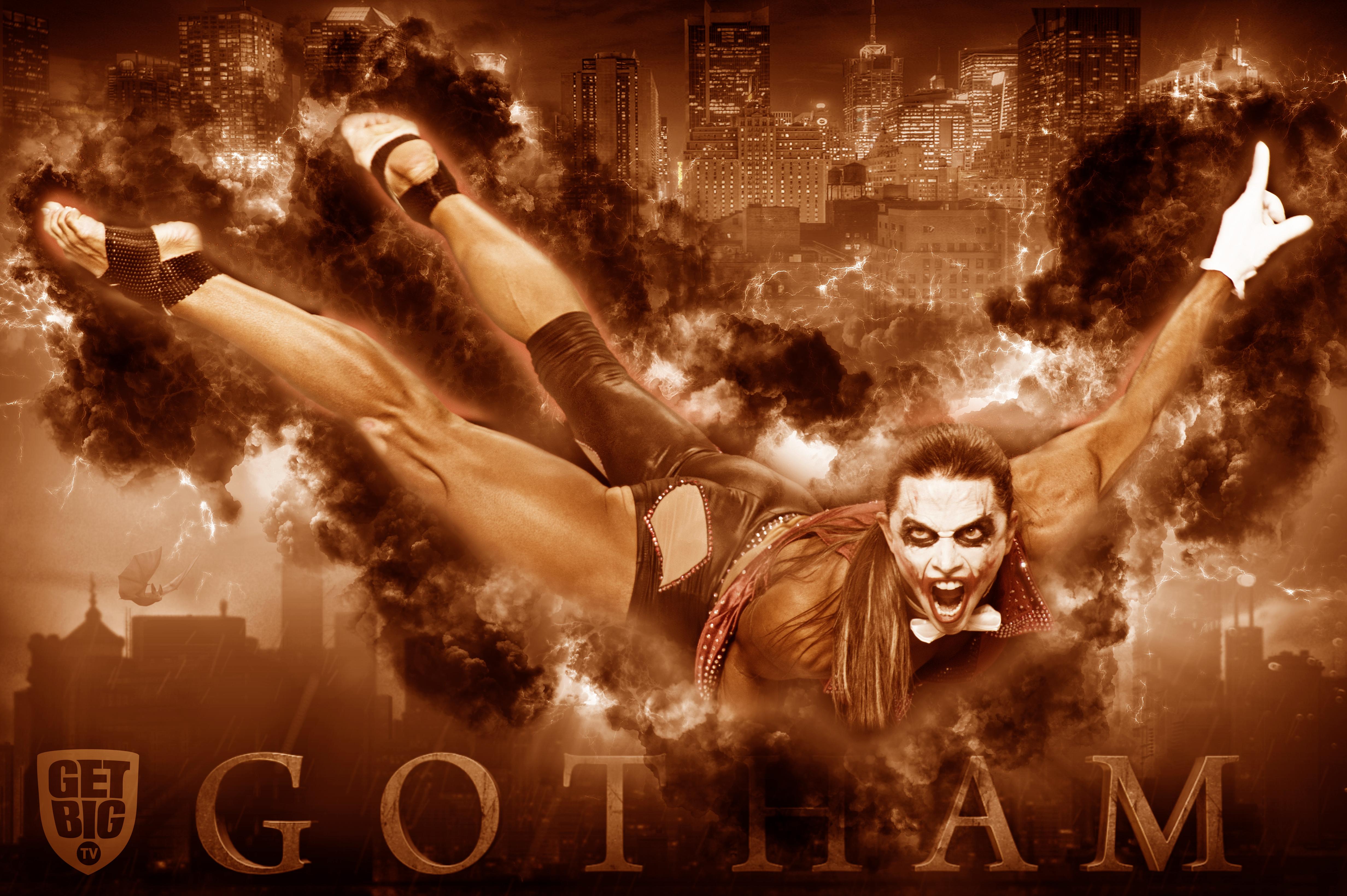 Оксана Гришина в образе «Джокера» на «Олимпии»-2013