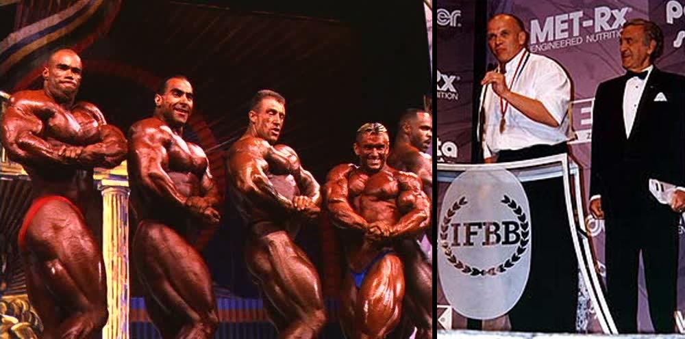 Вручение золотой медали IFBB Игорю Петрухину на «Олимпии»-1997