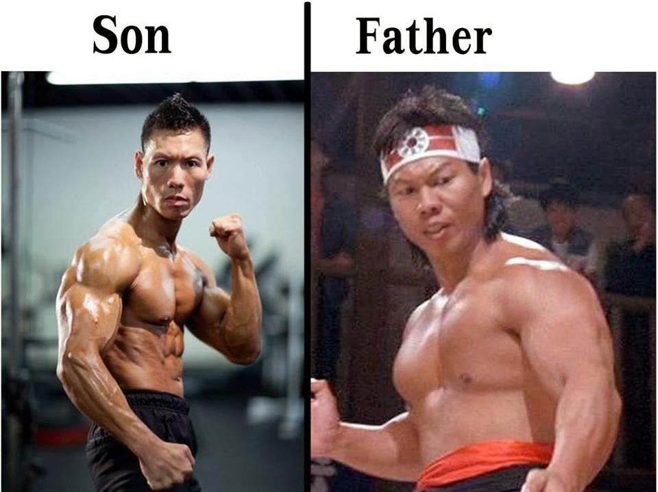 Боло Янг и его сын - Дэвид