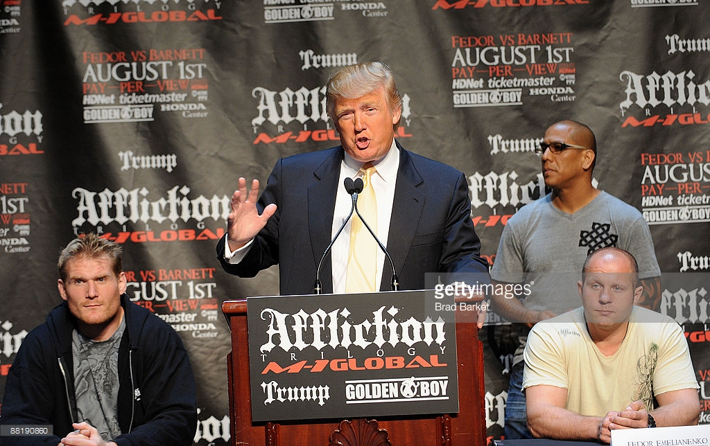 Дональд Трамп на чемпионате MMA