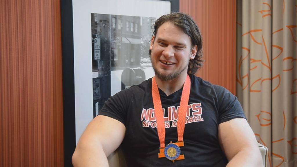 Мартинс Лицис - лидер сборной США по мас-рестлингу