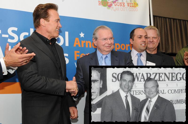 Арнольд Шварценеггер и Джим Лоример на «Классик»-2010