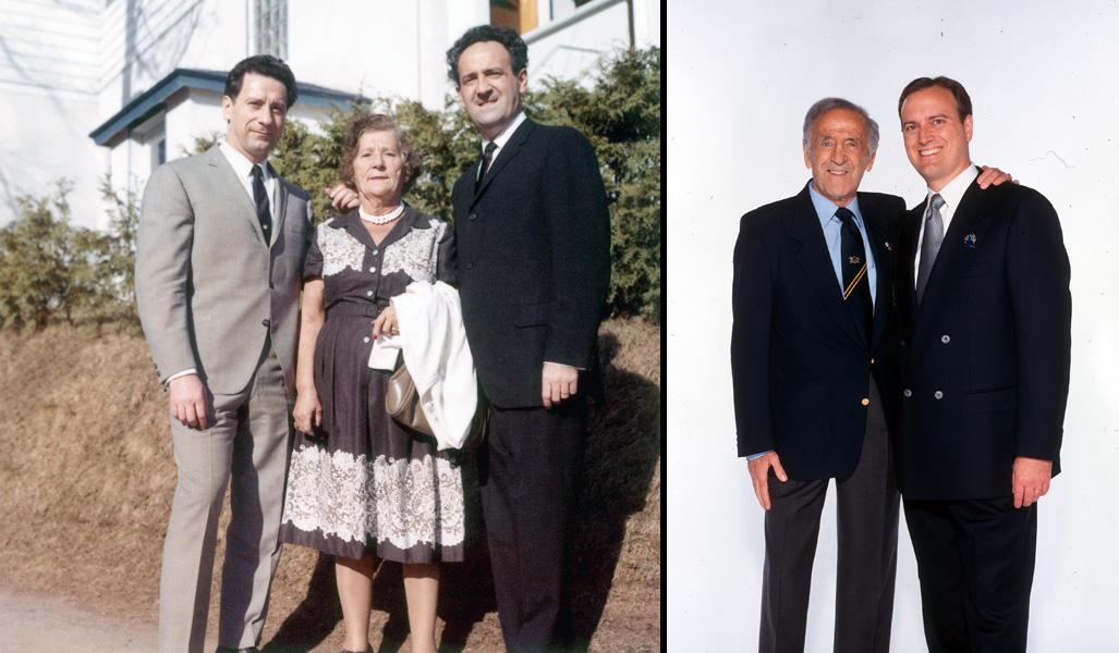 Слева - Джо и Бен Уайдера с матерью - Анной, справа - Бен и Эрик Уайдеры