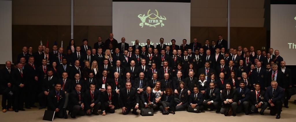Малая часть функционеров IFBB из разных стран мира