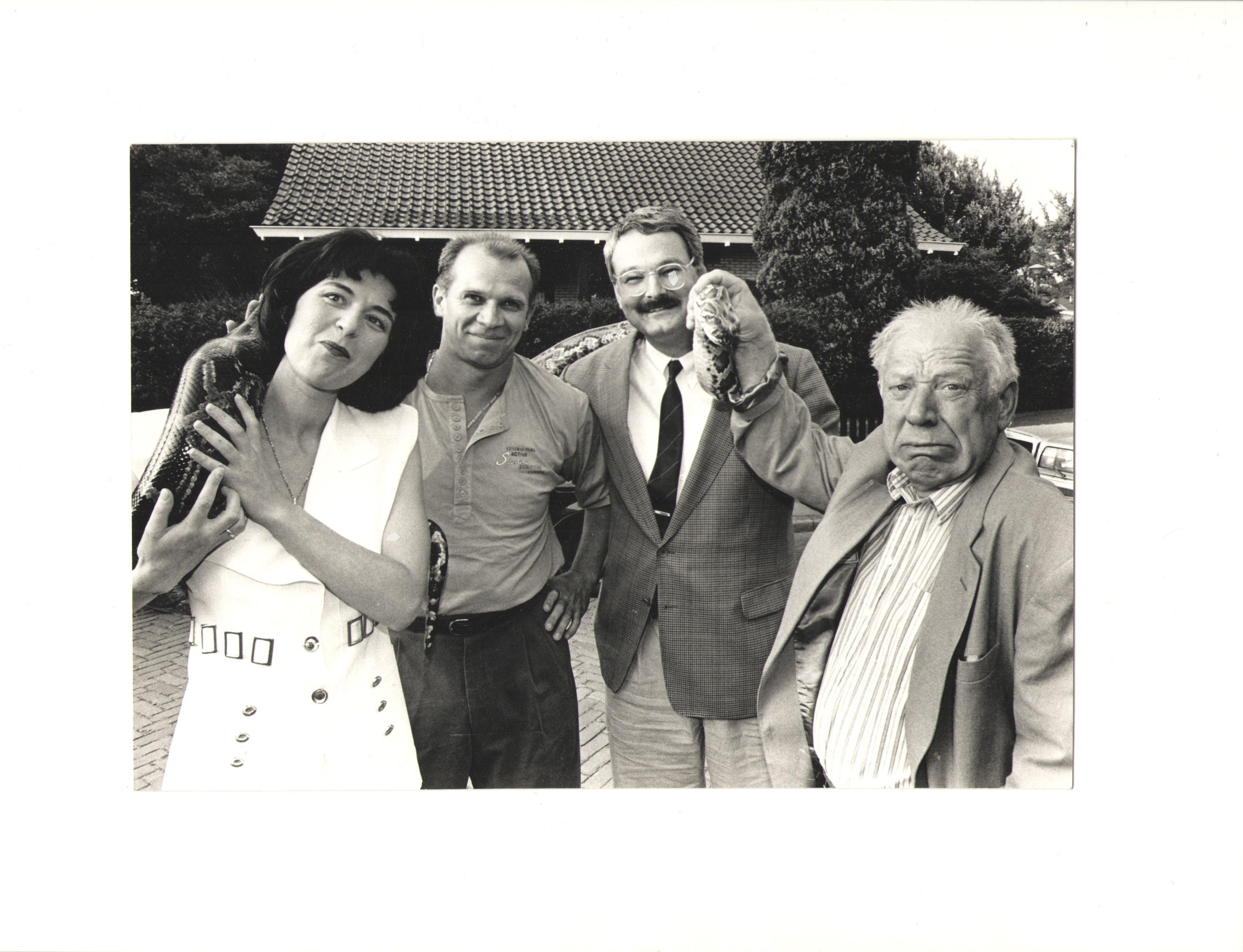 С Олегом Поповым, его супругой и цирковой змеей