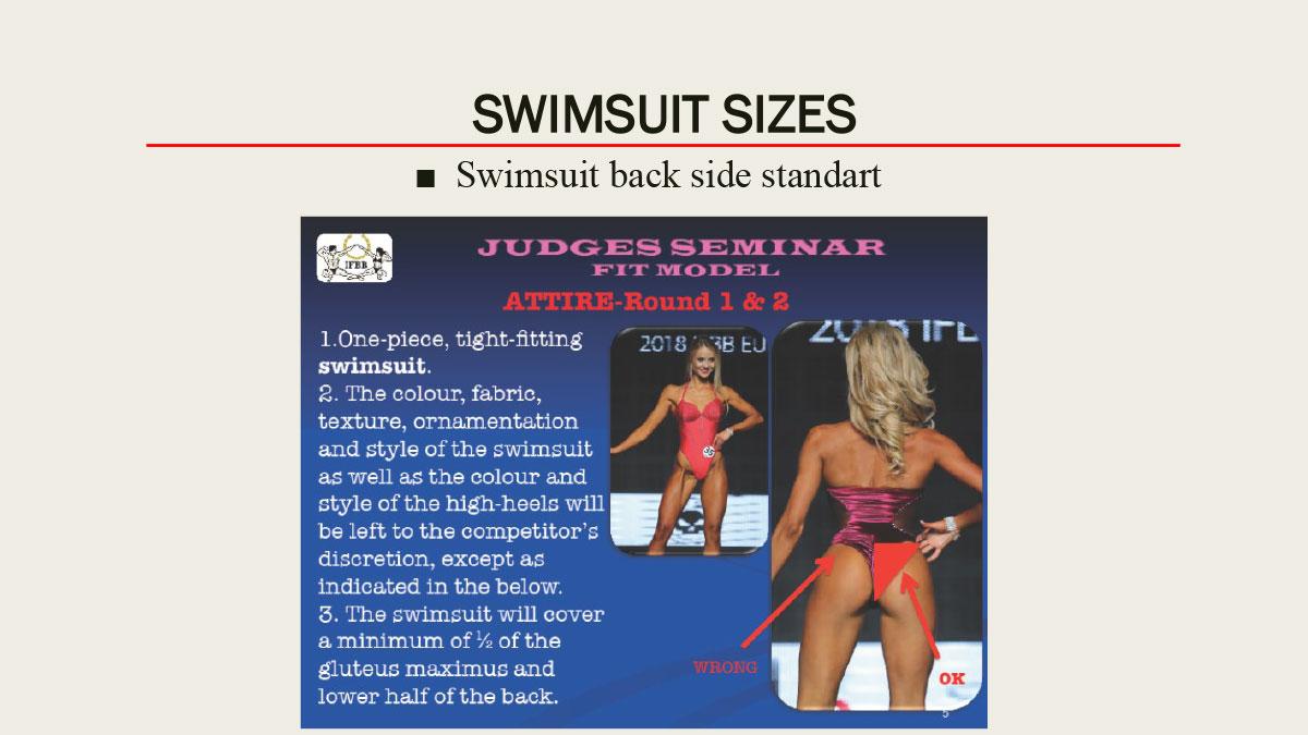 Требования к купальнику IFBB Women