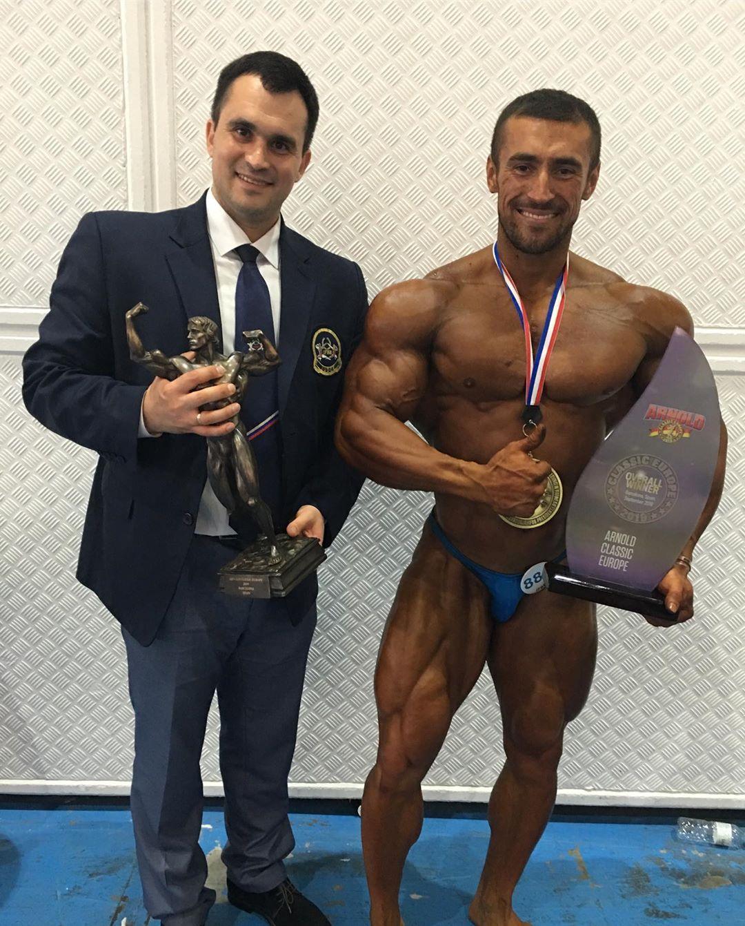 Денис Капустин и Усейн Салимов- абсолютный победитель «Arnold Classic Europe» - 2019 и победитель в категории 90 кг