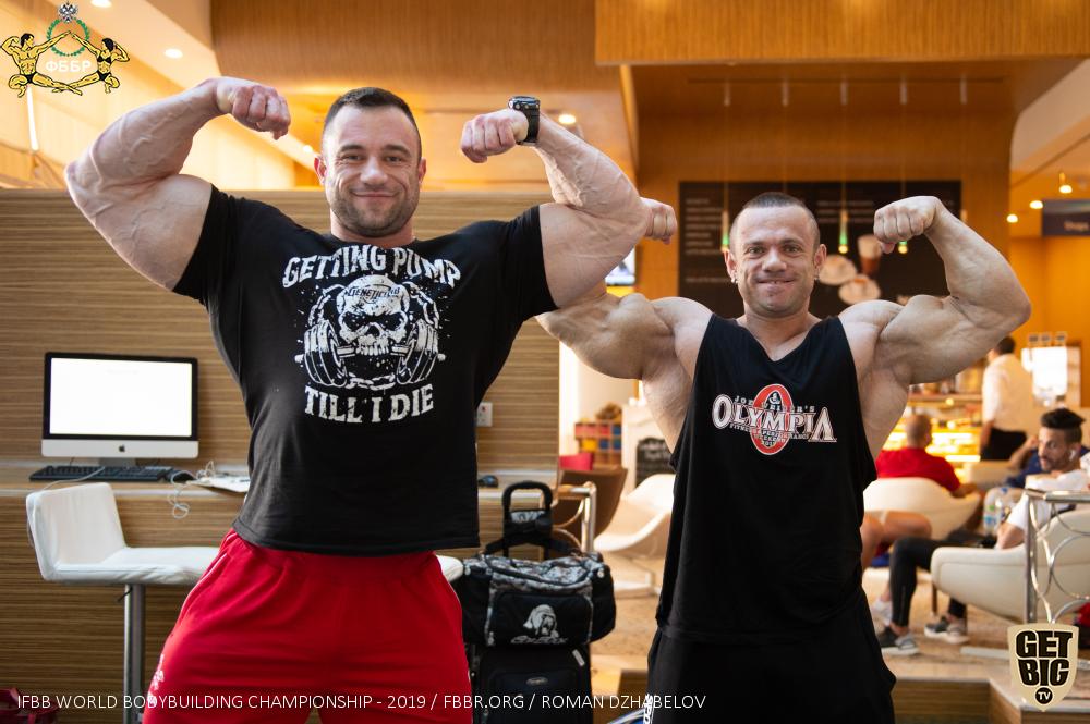 Алексей Кузнецов и Александр Мартынкин на Чемпионате мира по бодибилдингу - 2019