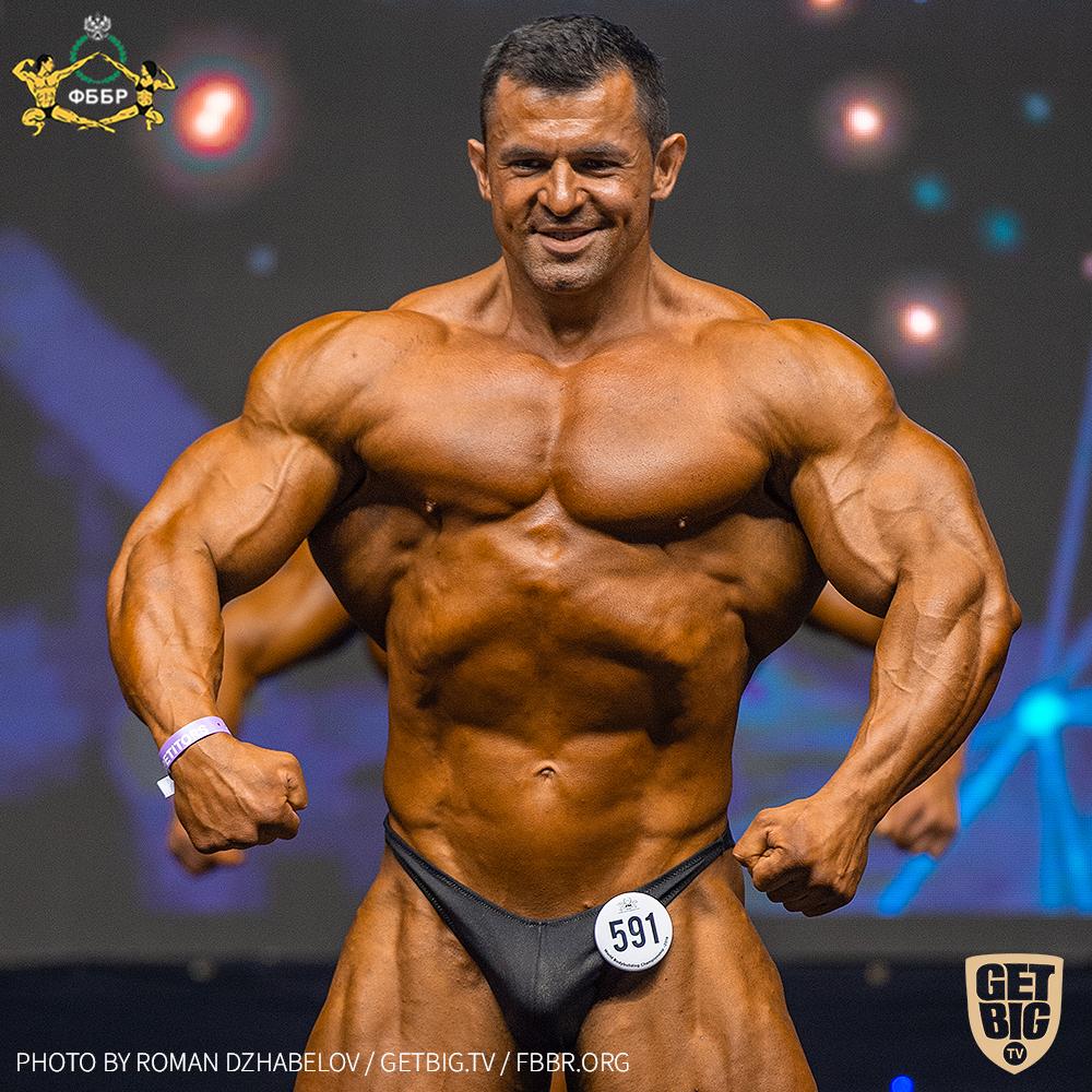 Евгений Лобанов на Чемпионате мира по бодибилдингу - 2019 в категории свыше 100 кг