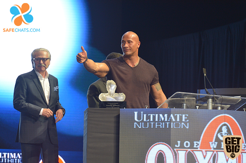 Дэвид Пекер и Дуэн Джонсон на «Олимпии»-2016