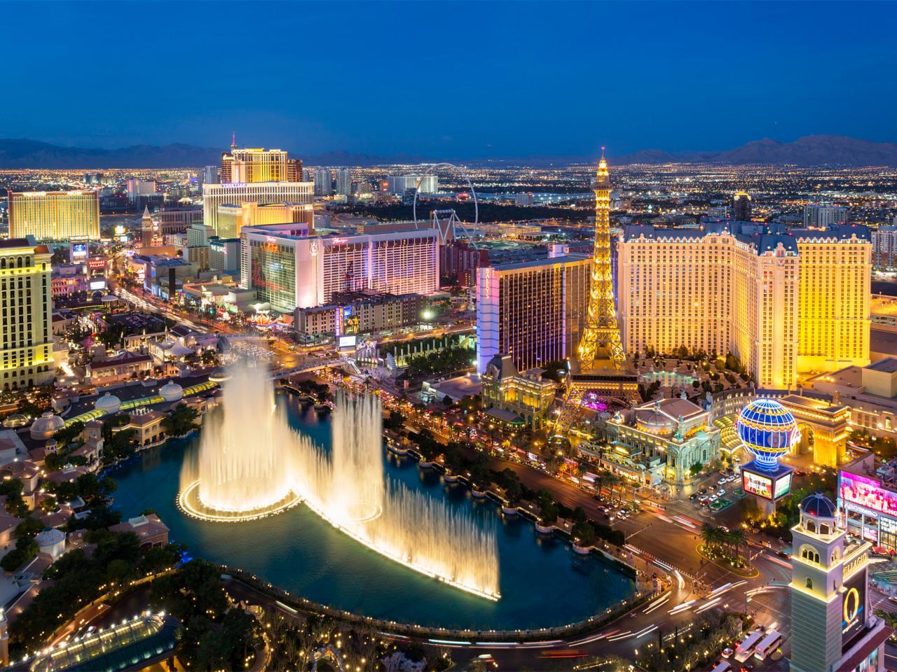 Вид на Las Vegas Strip