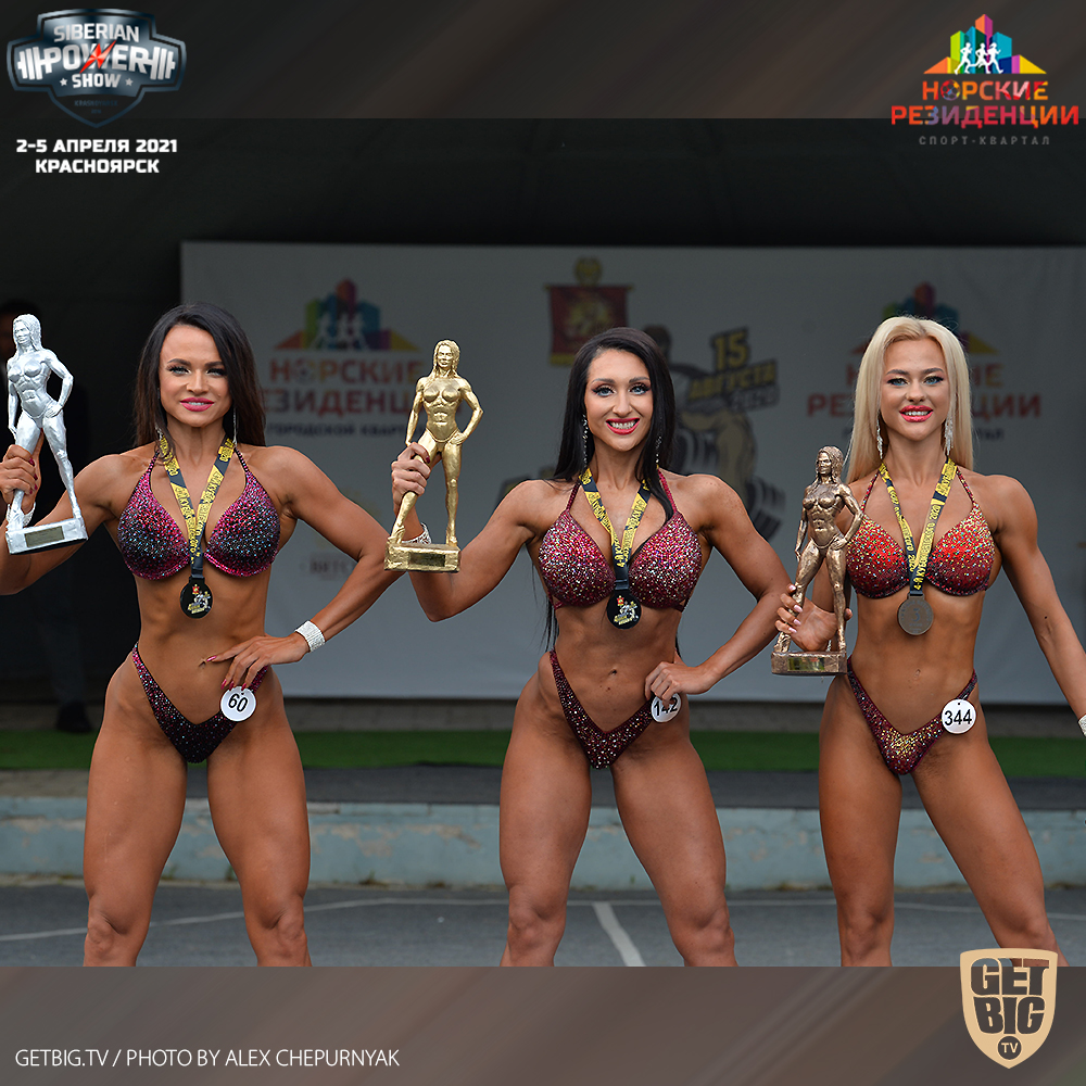 ТОП-3 фитнес-бикини до 169 см на Кубке Вятского - 2020