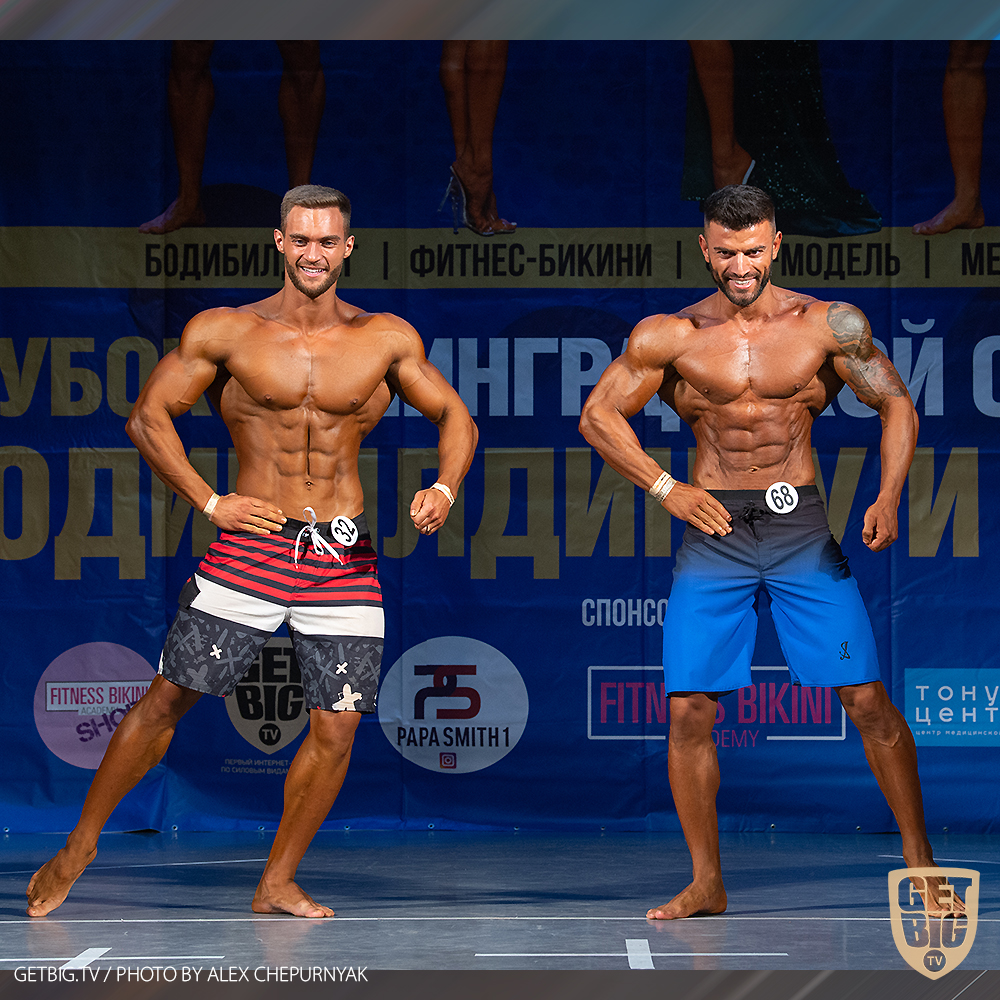 Пляжный бодибилдинг: до 178 см - Эмир Сафаров, абсолютный чемпион, свыше 178 см - Владислав Алексеев