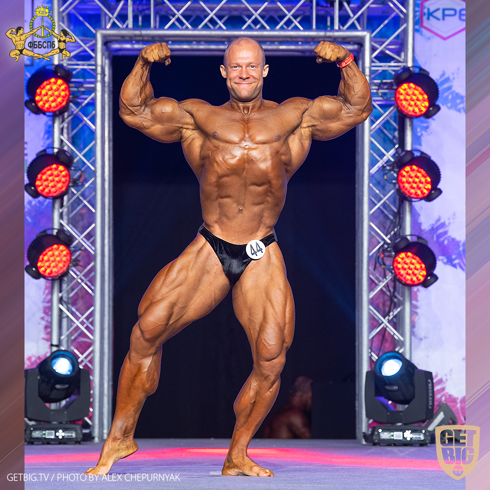 Кирилл Назаренко - 2-е место (100+ кг) на Чемпионате Санкт-Петербурга по бодибилдингу - 2020