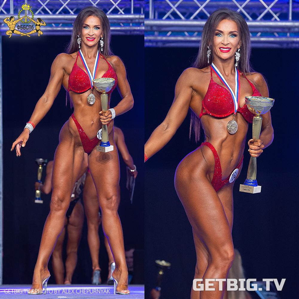Елена Пунина - абсолютная чемпионка Санкт-Петербурга - 2020 (фитнес-бикини мастера)