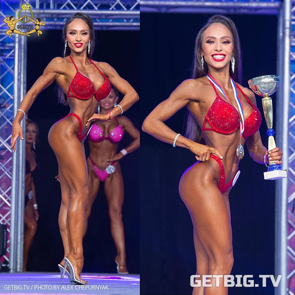 Зоя Корнева - чемпионка Санкт-Петербурга - 2020 (фитнес-бикини новички)