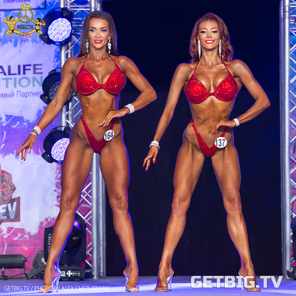 ТОП-3 фитнес-бикини Чемпионата Санкт-Петербурга - 2020 (рост до 172 см)