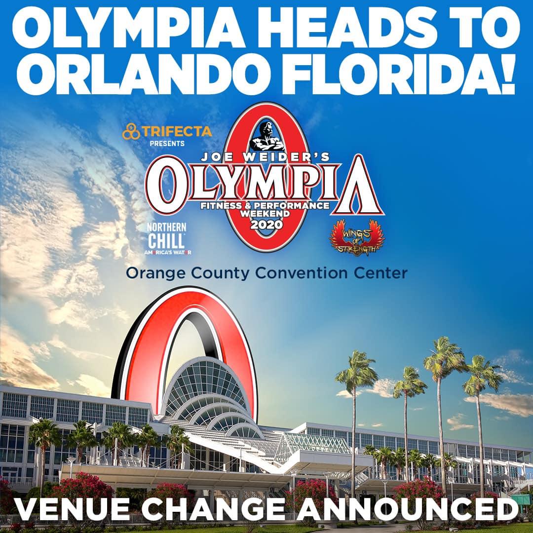 «Олимпия» - 2020 спешно переезжает в Орландо, штат Флорида